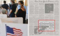 'Tiền sử' mắc bệnh gian lận phiếu bầu của Đảng Dân chủ đã từng bị chính tờ New York Times vạch trần...