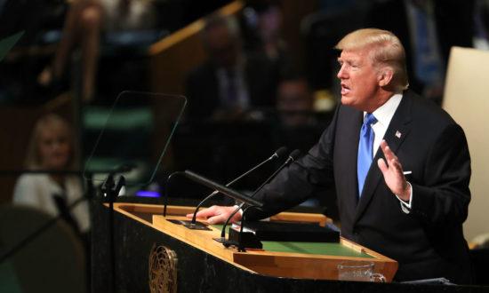 Tổng thống Trump đã nhận ra âm mưu của ĐCSTQ từ trước khi ông ra tranh cử tổng thống. (Ảnh: NICHOLAS KAMM / AFP qua Getty