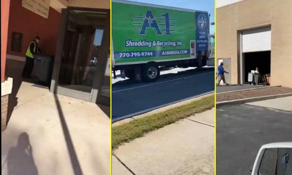 """Video: Công ty chuyên hủy tài liệu được thuê để tiêu hủy """"bằng chứng gian lận cử tri"""" tại Georgia?"""