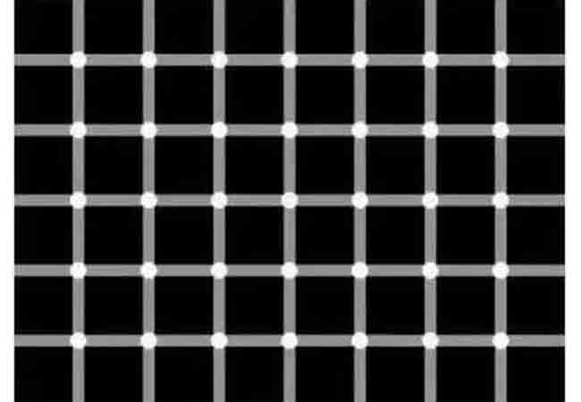 những chấm nhỏ hình thành do hai đường thẳng giao nhau