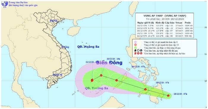 Xuất hiện áp thấp mới gần biển Đông, có thể bão trong 2-3 ngày tới