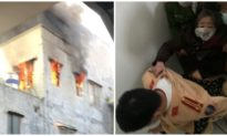 Giải cứu cụ bà thắp hương gây cháy nhà trên tầng 3 ở Hải Phòng