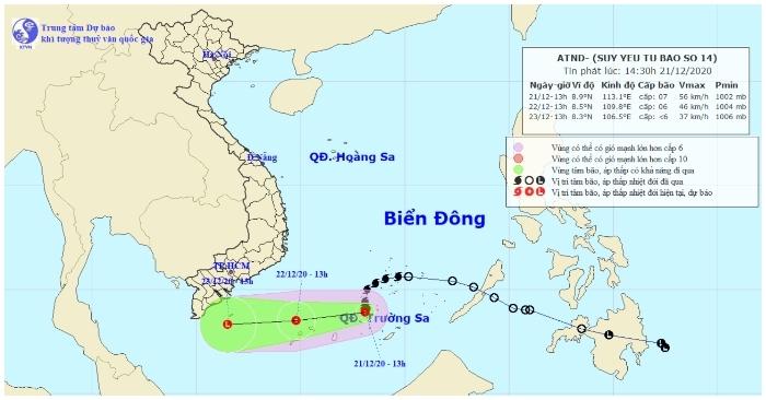 Bão số 14 suy yếu thành áp thấp nhiệt đới, Trung Bộ và Nam Bộ mưa lớn diện rộng