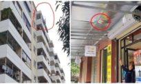 Bé trai 3 tuổi may mắn thoát chết sau khi rơi từ tầng 8 chung cư xuống đất
