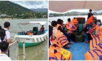 Cầu gỗ bị mưa lũ cuốn trôi, hơn 200 học sinh ở Nha Trang phải đến trường bằng ca nô