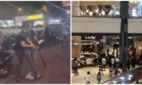 Hỗn chiến trước trung tâm thương mại ở Tân Phú, công an nổ súng trấn áp