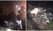 Ôtô biển xanh va chạm xe container ở Quảng Ninh, 4 người thương vong
