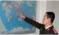 Một chủ doanh nghiệp ở Hải Dương treo bản đồ có đường lưỡi bò trong phòng làm việc