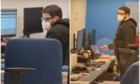 Video: Bắt quả tang nhân viên Dominion đang tải dữ liệu xuống USB, cắm USB vào một laptop...