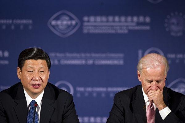 Ngày 14/2/2012, ông Tập Cận Bình lúc đó là Phó Chủ tịch Trung Quốc đã hội đàm với Phó Tổng thống Hoa Kỳ lúc đó là ông Biden. (JIM WATSON / AFP / Getty Images)