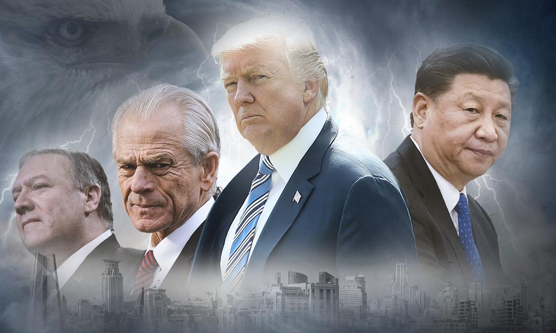 Gần đây, Tổng thống Donald Trump cùng các quan chức hàng đầu trong nội các của ông đã có những phát biểu và hành động cực kỳ cứng rắn, trong cuộc đối đầu toàn diện với ĐCSTQ. (Ảnh tổng hợp)