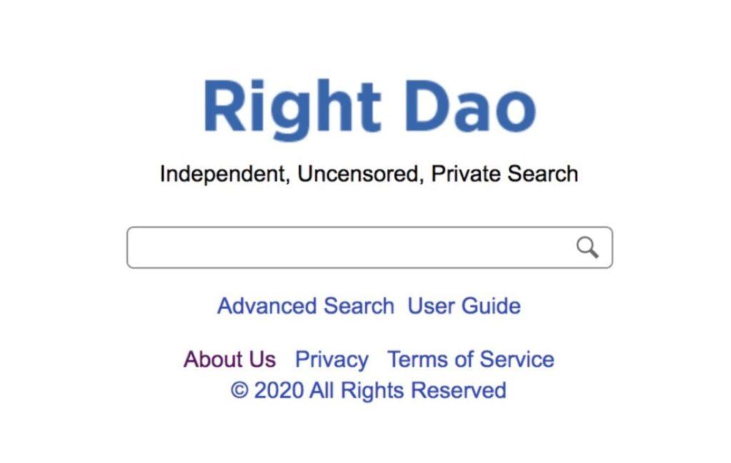 Right Dao - Công cụ tìm kiếm mới cho kết quả không bị kiểm duyệt, không theo dõi dữ liệu người dùng