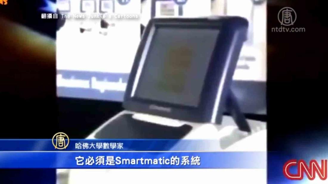 CNN đưa tin rằng, công ty máy bỏ phiếu Smartmatic ở Venezuela có quan hệ với chính phủ Venezuela và rằng chính phủ Chavez không chỉ nắm giữ cổ phần. (Ảnh chụp từ video)