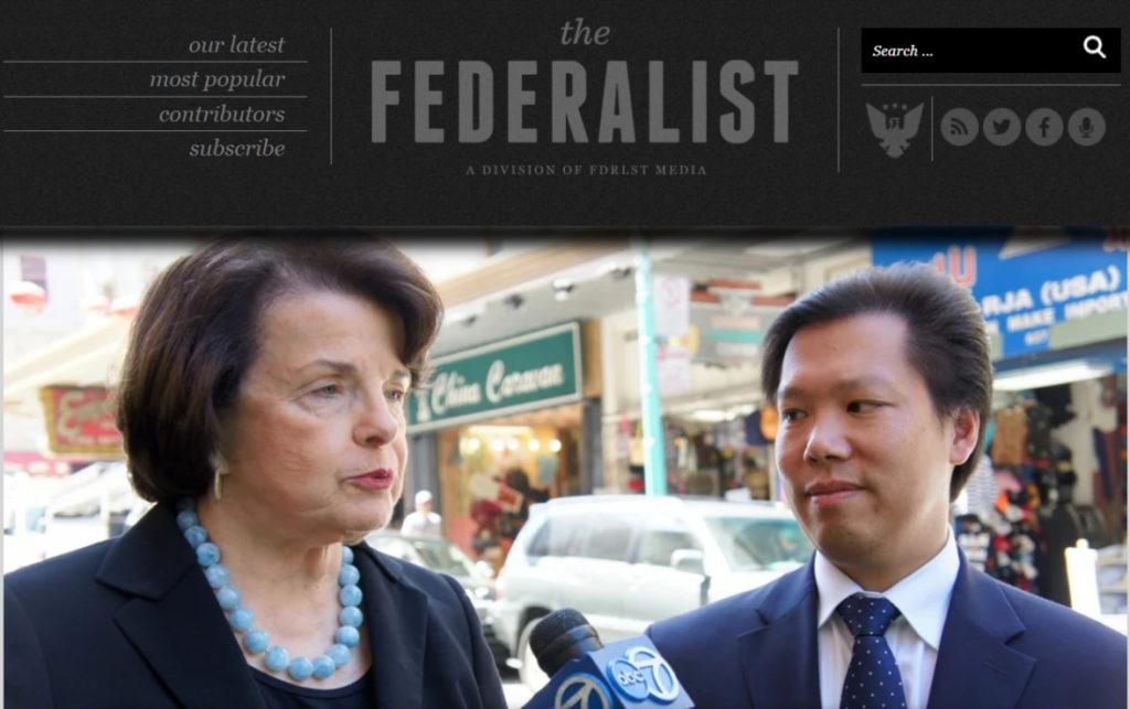 Năm 2013, FBI thông báo cho bà Dianne Feinstein rằng, họ đang theo dõi một người đàn ông ở San Francisco bị tình nghi làm gián điệp cho Trung Quốc. Người đàn ông đó lại chính là tài xế riêng của bà Feinstein.