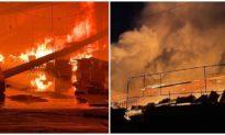 Xưởng gỗ ở Bình Dương bốc cháy thiêu rụi gần 5.000 m2 nhà xưởng