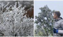Băng tuyết phủ trắng đỉnh Mẫu Sơn, cảnh báo mưa tuyết ở vùng núi Bắc bộ