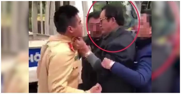 Chi cục trưởng Dân số Tuyên Quang tát CSGT khi được yêu cầu đo nồng độ cồn