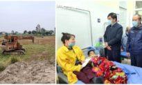 Bị máy ép cọc công trình xây dựng nhà văn hóa đổ vào người, 4 cháu nhỏ ở Bắc Ninh thương vong