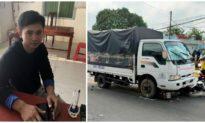 Tài xế xe tải ngủ gật tông 5 học sinh trước cổng trường ở An Giang