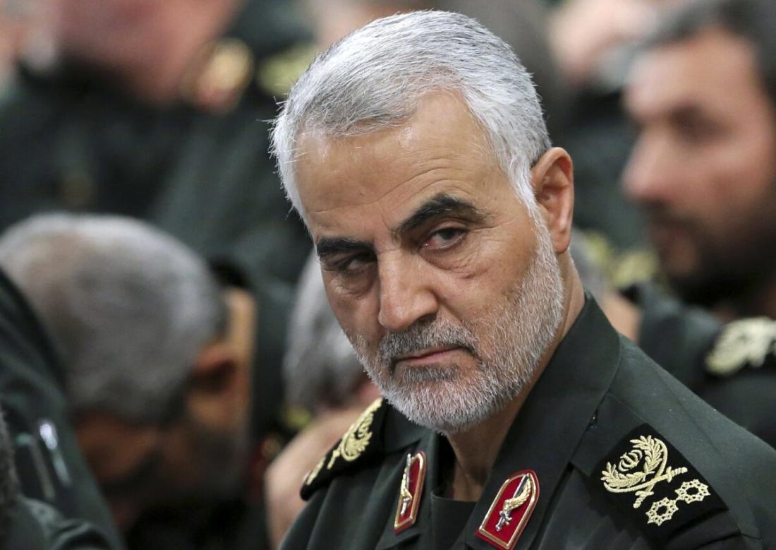 Tướng Qassem Soleimani tham dự một cuộc họp với Lãnh tụ tối cao Ayatollah Ali Khamenei và các chỉ huy Vệ binh cách mạng ở Tehran, Iran, vào ngày 18/9/2016