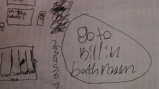 Giấy viết tay cho thấy hung thủ âm mưu sát hại bạn học trong phòng vệ sinh.