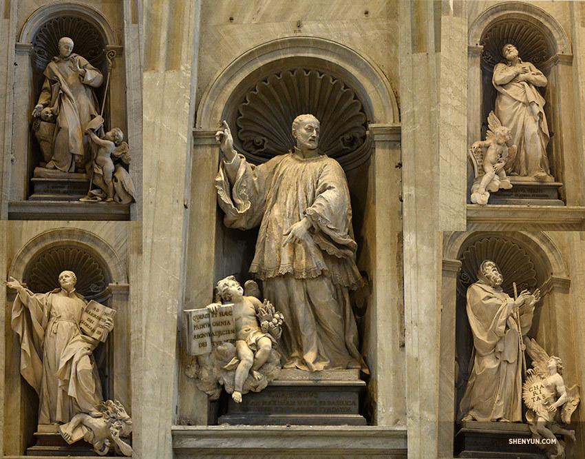 Tượng các Thánh đồ Cơ đốc giáo trong đại giáo đường Thánh Peter (Nguồn ảnh: Public Domain)