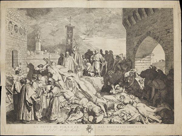 Một bức vẽ về dịch bệnh ở Florence năm 1348. (Wikipedia)