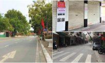 Ảnh: Thành phố Hải Dương trở nên vắng lặng do cách ly xã hội