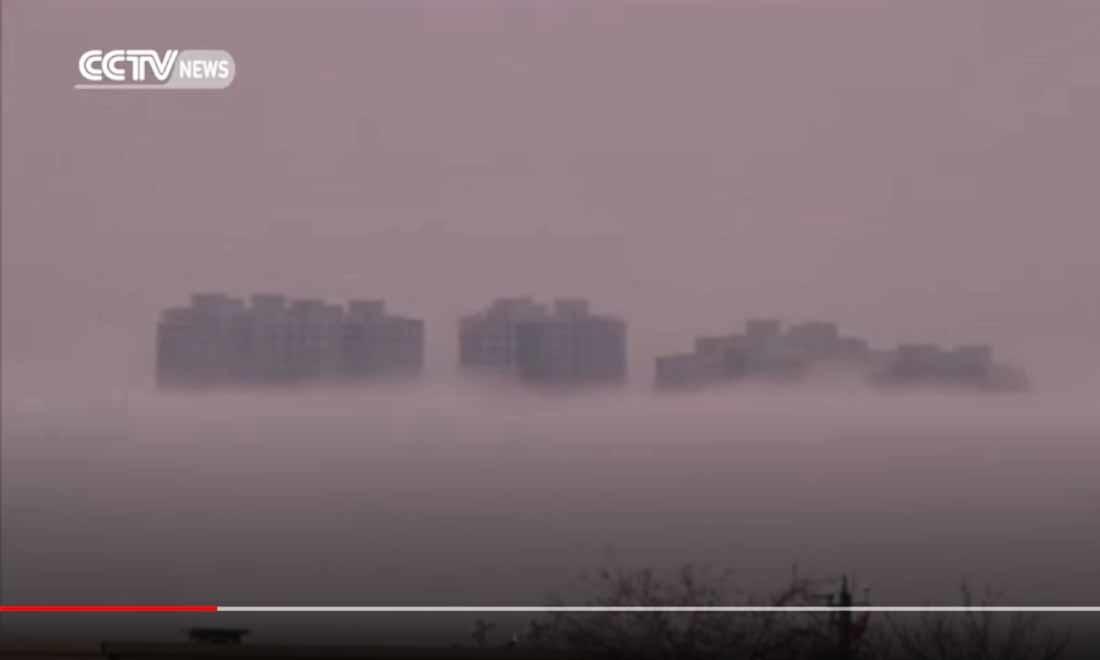 Bí ẩn về thành phố 'lơ lửng' trong không trung ở Trung Quốc