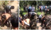 Phát hiện thi thể người đàn ông trong cống thoát nước tại vườn sầu riêng ở Tiền Giang