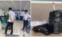 Mặc áo xe ôm công nghệ, người đàn ông cầm 'súng, mìn' xông vào cướp ngân hàng BIDV ở Hà Nội