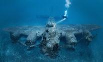 Thợ lặn chụp được những bức ảnh ấn tượng của xác máy bay từ thời Thế chiến II dưới đáy đại dương ngoài khơi Croatia