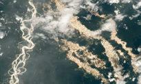 """Từ ngoài không gian, phi hành gia NASA chụp được bức ảnh """"dòng sông vàng"""""""