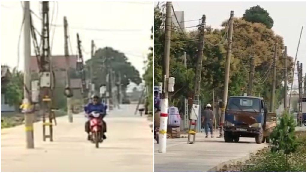 Hơn 40 cột điện 'mọc' giữa đường ở Ninh Bình đã được di dời