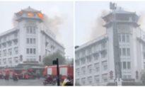Khách sạn ở TP. HCM cháy lớn ngùn ngụt trong cơn mưa chiều