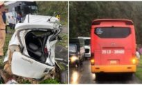 Ô tô 4 chỗ va chạm xe khách trên quốc lộ 6 ở Hòa Bình, 2 người chết tại chỗ