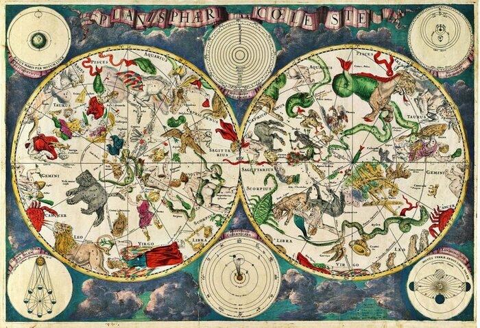 Nguồn gốc thực sự của Bản đồ sao chiêm tinh và 12 cung hoàng đạo