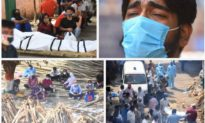 Chùm ảnh dịch Covid tại Ấn Độ: Thi thể xếp hàng chờ được hoả táng
