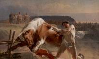 """Sức mạnh của sự kiềm chế: """"Ian Usmovets ngăn chặn một con bò đực nổi điên"""""""