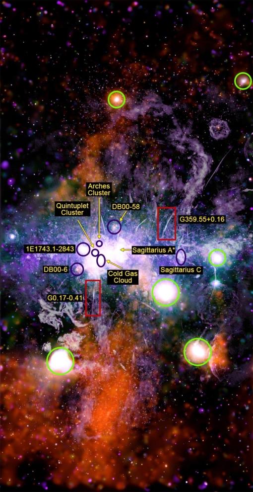Hình ảnh trung tâm hệ Ngân Hà. (NASA / CXC / UMass / QD Wang; NRF / SARAO / MeerKAT)