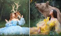 Những bức ảnh 'cổ tích' về mối liên hệ kỳ diệu giữa 'giai nhân và... loài vật'