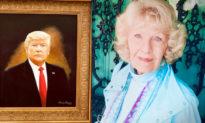 Nghệ sĩ 88 tuổi vẽ chân dung cựu Tổng thống Trump, và nói 'Tôi là người yêu nước'