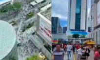 Tháp chọc trời Trung Quốc đột nhiên rung lắc, người dân hoảng loạn bỏ chạy