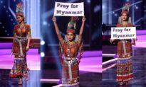 """Hoa hậu Myanmar đoạt giải """"Trang phục dân tộc đẹp nhất"""" Hoa Hậu Hoàn vũ 2021"""