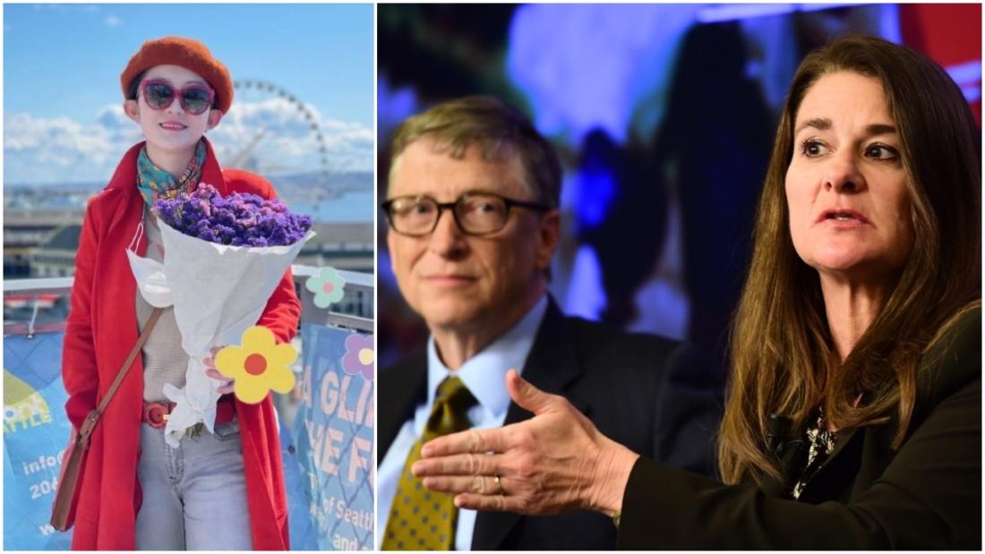 """Nhiều người suy đoán rằng suy đoán rằng Bill Gates có """"mối quan hệ bất thường"""" với một phụ nữ Trung Quốc Wang Zhe - người từ lâu đã đóng vai trò thông dịch viên cho quỹ từ thiện của Gates. (Ảnh tổng hợp)"""