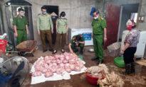Phát hiện hơn 3 tấn thịt gà bốc mùi hôi thối, chuẩn bị bán ra thị trường