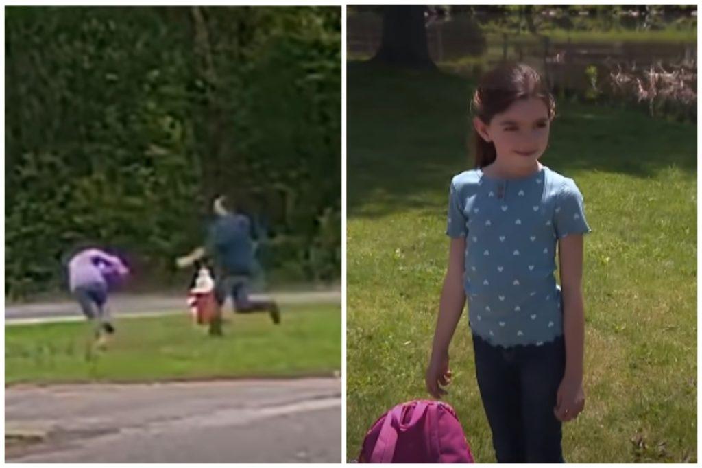Bé gái 11 tuổi một mình chống lại kẻ bắt cóc cầm dao