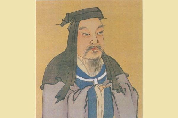 Bức chân dung màu của Ngụy Thái Tổ Tào Tháo, do nhà Minh vẽ. (Phạm vi công cộng)