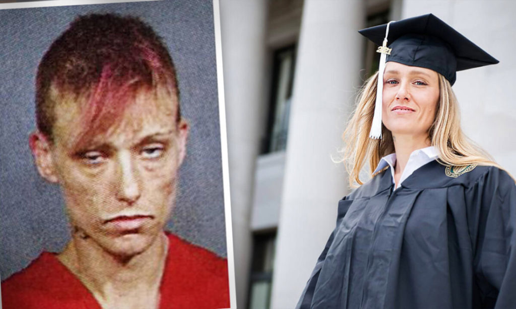 Người phụ nữ từng nghiện ma túy đã làm lại cuộc đời, và tốt nghiệp đại học Washington