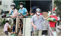 Chàng trai mang 7 tấn 'quà quê' tặng cho người dân vùng tâm dịch Gò Vấp